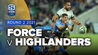 Force v Highlanders Rd.2 2021 Super rugby Trans Tasman video highlights