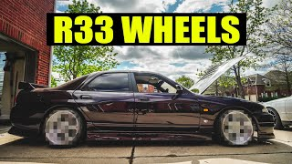 The R33 FINALLY GETS NEW WHEELS!!! by Evan Shanks