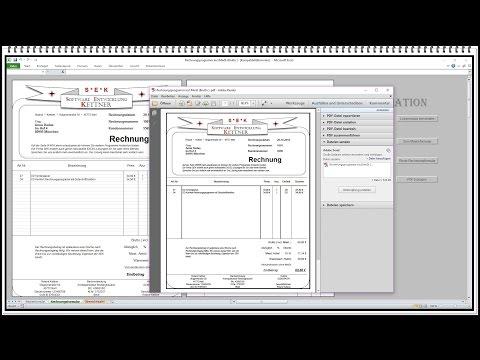 Einfaches Rechnungsprogramm  . Netzwerkfähige einfache Rechnungssoftware kaufen ( Excel )