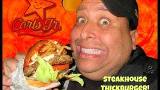 Video Carls Jr.® Steakhouse Thickburger REVIEW! MP3, 3GP, MP4, WEBM, AVI, FLV Juli 2018