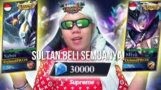 Download Video SULTAN BELI SEMUA SKIN LEGENDS SEKALIGUS!?!? TOTAL? 30.000 DIAMOND! - Mobile Legends Indonesia #42 MP3 3GP MP4
