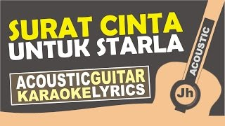 Video Virgoun - Surat Cinta Untuk Starla ( Karaoke Acoustic ) MP3, 3GP, MP4, WEBM, AVI, FLV April 2018