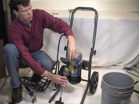 fix paint sprayer - Need to paint a large surface quickly? Check out this video to learn more about how airless paint sprayers can help. Video covers styles available, how to se...
