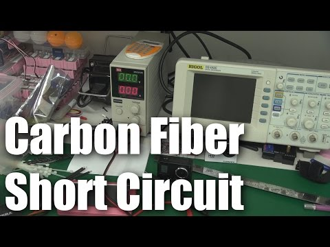 fiber - This video explains why you should be careful when mixing carbon fiber and electricity in RC models -- and fills my studio with acrid, toxic smoke in the process. Although it looks and feels...