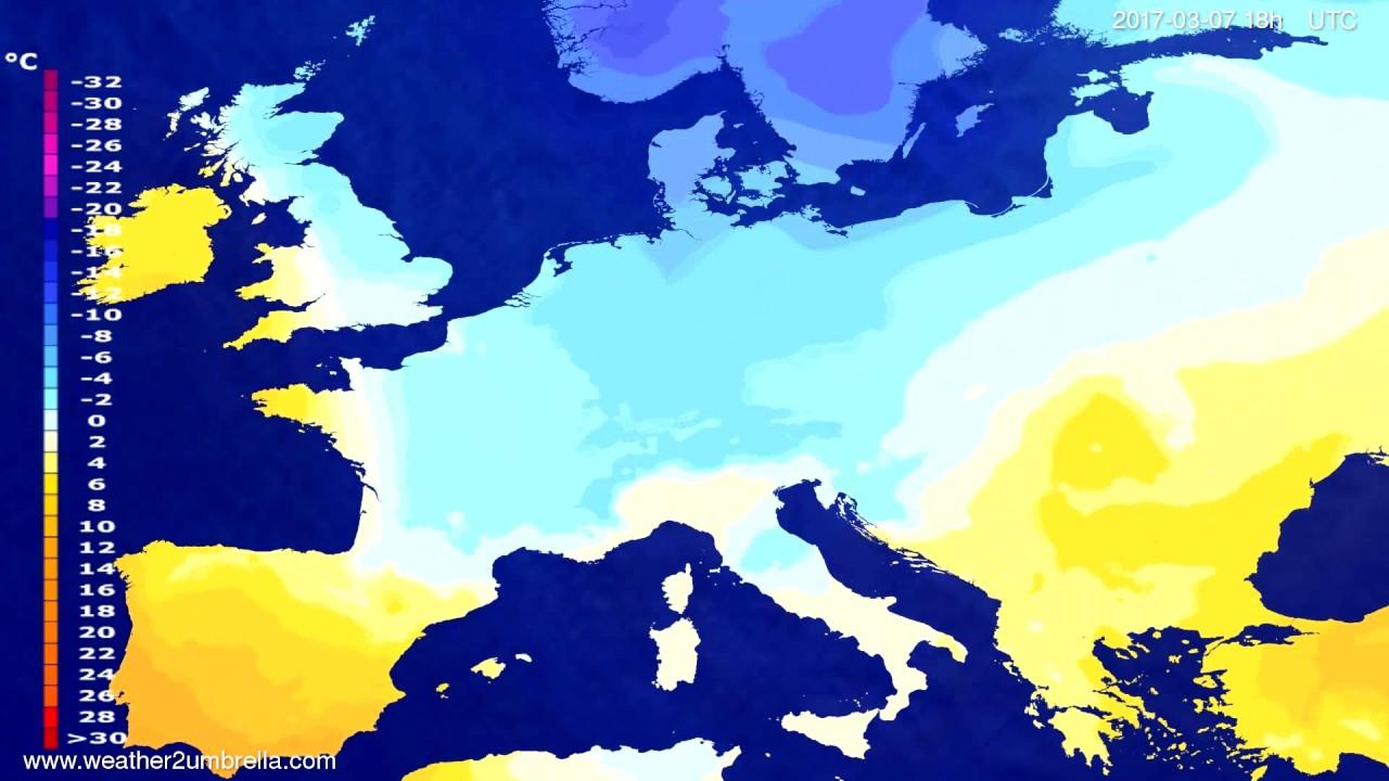 Temperature forecast Europe 2017-03-04
