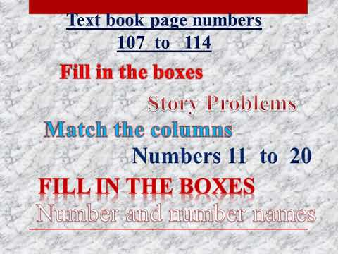 Class 1 - Maths _ Word Problmes