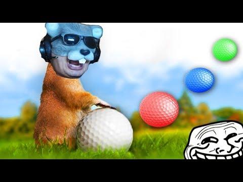 TROLLEI O RATÃO BORRACHUDO no GOLF!!! - Golf It