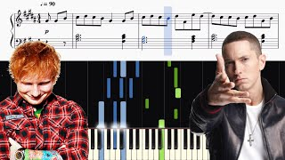 Eminem - River (feat. Ed Sheeran) - Piano Tutorial + SHEETS