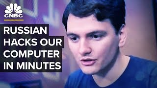 Watch This Russian Hacker Break Into Our Computer In Minutes | CNBC