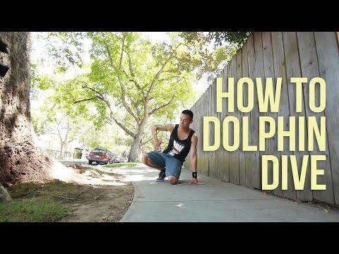 Элементы Брейк Данса: движение дельфин. Урок обучения видео.