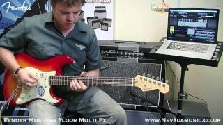 Fender Mustang Floor Guitar Multi Fx Pedal Full Demo - Damon @ Nevada Music UK