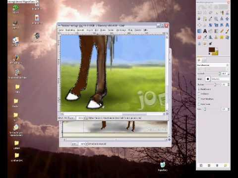 Joelle.de – Die Beine – Schön und einfach 2D malen mit GIMP