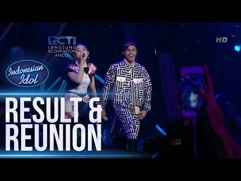 KEVIN Ft. VIA VALLEN - SAYANG - RESULT & REUNION - Indonesian Idol 2018