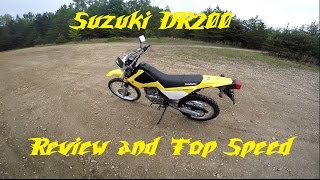 1. Suzuki DR200 Ride Review and Top Speed run!