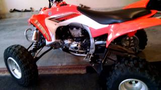 6. 2014 Yamaha YFZ450R Walk around and start up