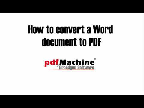 Use pdfMachine to convert a Word document to PDF
