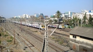 Andheri India  city photos : Mumbai Local Train Railway Double Parallel Action @ Andheri Station India 2015 [HD VIDEO]