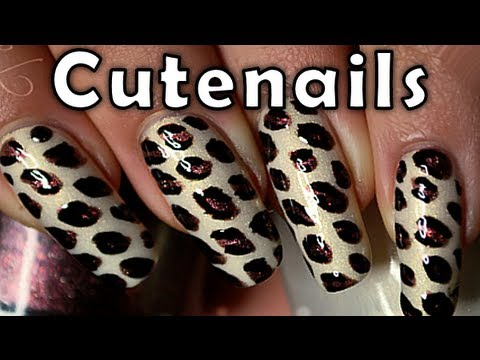 Easy leopard / cheetah nails tutorial for beginners_Best videos: Android