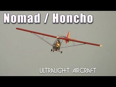 ultralight sailplane - http://www.sportaviationmagazine.com – Nomad: Honcho design represents a family of aircraft utilizing common components. This high wing, pusher monoplanes feature 3-axis aerodynamic tricycle...