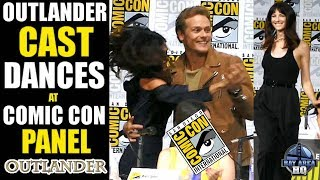 OUTLANDER CAST DANCES AT COMIC CON PANEL !! San Diego Comic Con SDCC 2017