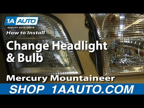 How To Install Replace Change Headlight and Bulb 2002-10 Mercury Mountaineer (видео)
