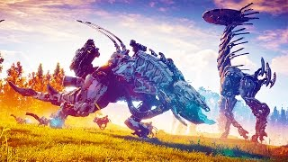 More info about the game-Horizon Zero Dawn is an upcoming action role-playing video game in development by Guerrilla Games and published by Sony Computer Entertainment for the PlayStation 4 in 2016. It will be the first intellectual property developed by Guerrilla Games since Killzone in 2004 and will be the studio's first attempt in developing a role-playing game. Horizon Zero Dawn is an action role-playing game in which players take control of Aloy, a hunter and archer, as she progresses through a post-apocalyptic land which is ruled by mechanized creatures, such as robotic dinosaurs.[1] The game is set in a future 1000 years from the present, in which human civilization has long abandoned Earth due to the world being dominated by robotic creatures, which have since become the strongest creatures in the world.[2] The component of these creatures, such as electricity and the metal they are composed of, are vital to Aloy's survival, and she can loot these creatures' corpses to find these useful resources.[2] The game's role-playing elements is said to be between that of Assassin's Creed and The Elder Scrolls V: Skyrim.