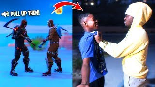 CONFRONTING a Fortnite Trash Talker FACE TO FACE! Fight?