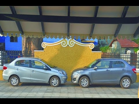 Honda Amaze Vs Maruti Dzire | Comparison Test | Autocar India
