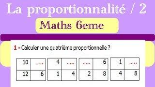 Maths 6ème - La proportionnalité 2 Exercice 1
