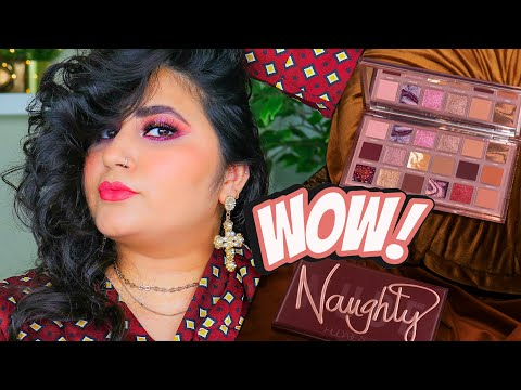 New Huda Beauty Naughty Nude Palette Review, Swatches & Tutorial l November 2020  l Sharo Khan