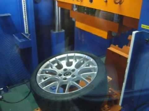 Проверка прочности диска WSP Italy W675 BASEL M на косой удар обода (BMW)