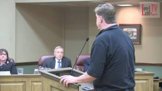 "Russ Dolezal told Council, ""Woman take it slow. """
