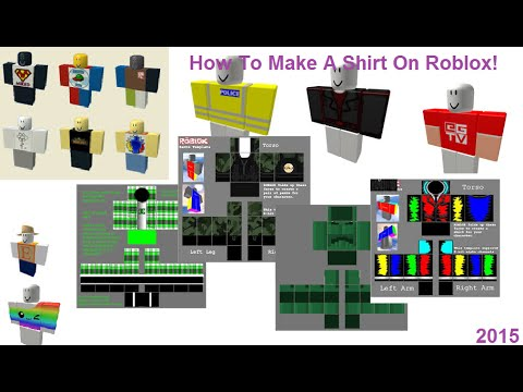 roblox how to make a shirt