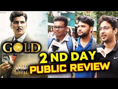 GOLD PUBLIC REVIEW | SECOND DAY | Multiplex Theater | Akshay Kumar, Mouni Roy