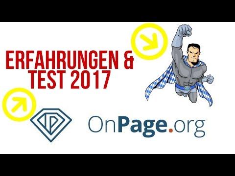 Onpage.org - Erfahrungen & Test 2017 | Das beste SEO Tool ?
