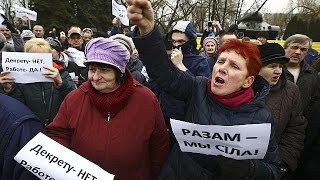 Braving the wrath of their hardline president, protesters took to the streets of Belarus over the weekend in the latest show of anger...