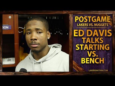 Video: Lakers vs. Nuggets: Ed Davis Talks Starting vs. Coming Off Bench