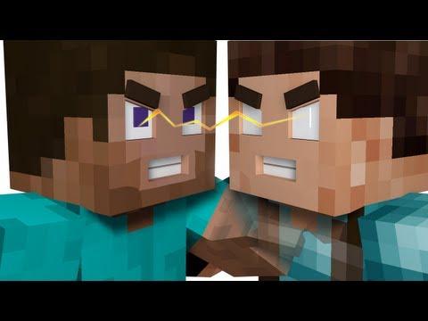 Minecraft Herobrine Vs Steve Steve vs herobrine - minecraft