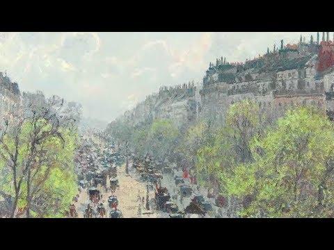 """Pissarro's """"Le Boulevard Montmartre..."""""""