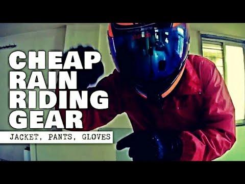 Cheapest Motorcycle Rain Gear Review | Quechua Raincut | XDi Stealth Gloves