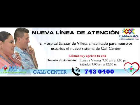 COMERCIAL CALL CENTER HOSPITAL SALAZAR DE VILLETA