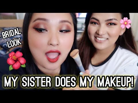 (Beautiful Glam Bridal Makeup | Nepali Makeup | My Sister Does My Makeup! - Day #129 - Duration: 10 minutes.)