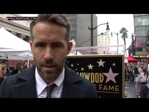 Ryan Reynolds Walk of Fame Ceremony