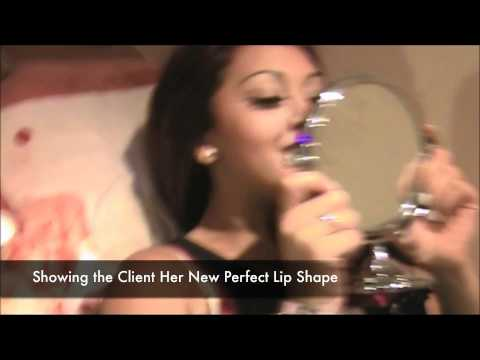 How to apply permanent makeup to the lips from the Permanent Makeup Training Academy