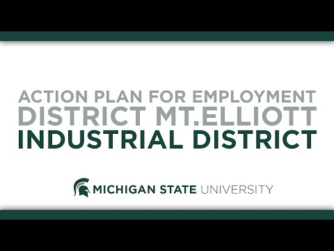 Action Plan for Employment District Mt. Elliott Industrial District