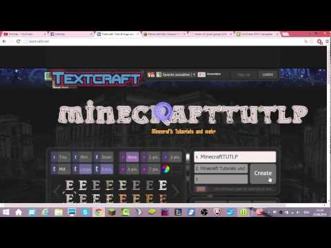 youtube Minecraft banner erstellen ganz einfach