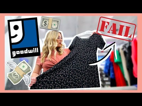 THRIFTING AT THE GOODWILL $1 SALE | *SO MANY FAILS*