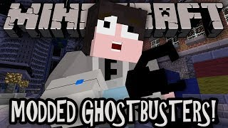 Minecraft: Modded GHOSTBUSTERS - PORTAL GUNS, GRAVITY GUNS!! w/ Friends