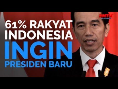 61% Rakyat Indonesia Ingin Presiden Baru