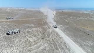 Azərbaycan-Türkiyə birgə genişmiqyaslı hərbi təlimləri davam edir – VİDEO